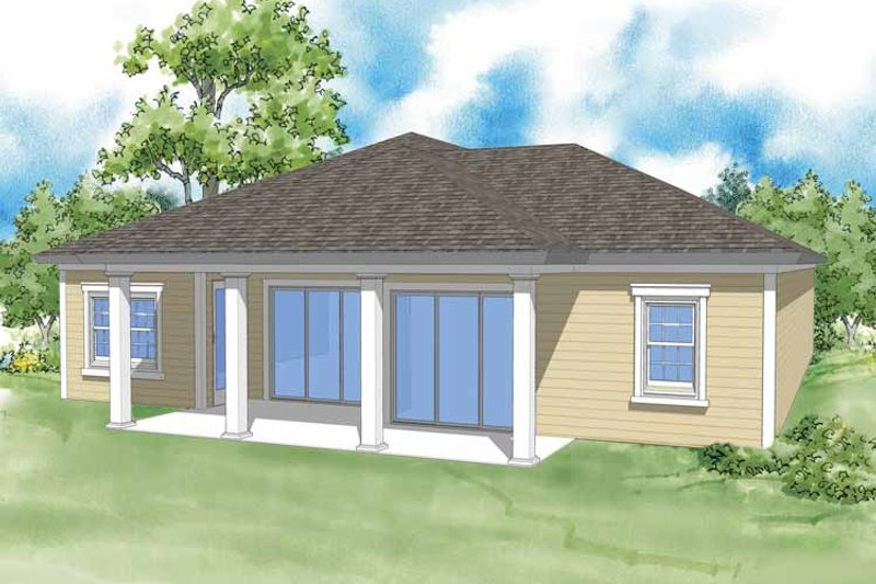 Country Exterior - Rear Elevation Plan #930-366 - Houseplans.com
