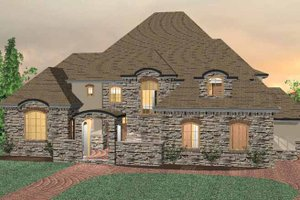 Country Exterior - Front Elevation Plan #937-11