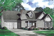 Architectural House Design - Country Exterior - Front Elevation Plan #17-3064