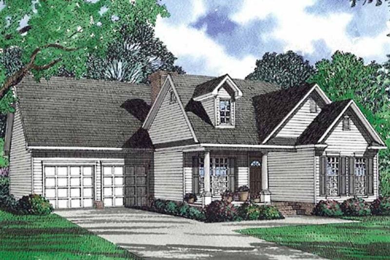 Country Exterior - Front Elevation Plan #17-3064 - Houseplans.com