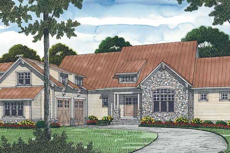 Craftsman Exterior - Front Elevation Plan #453-470