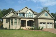 European Style House Plan - 4 Beds 3 Baths 3990 Sq/Ft Plan #17-2306 Exterior - Front Elevation