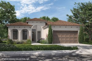 Home Plan - Mediterranean Exterior - Front Elevation Plan #930-493