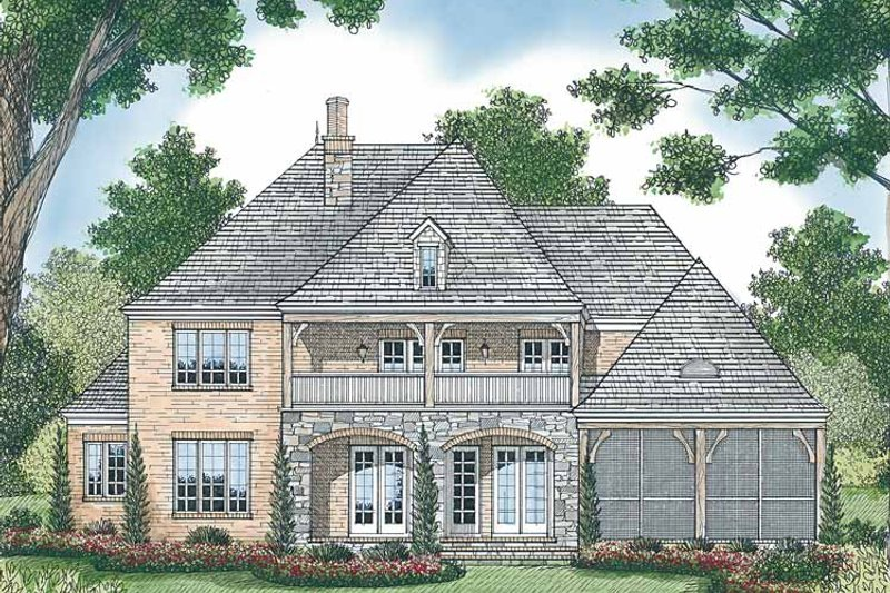 Country Exterior - Rear Elevation Plan #453-449 - Houseplans.com