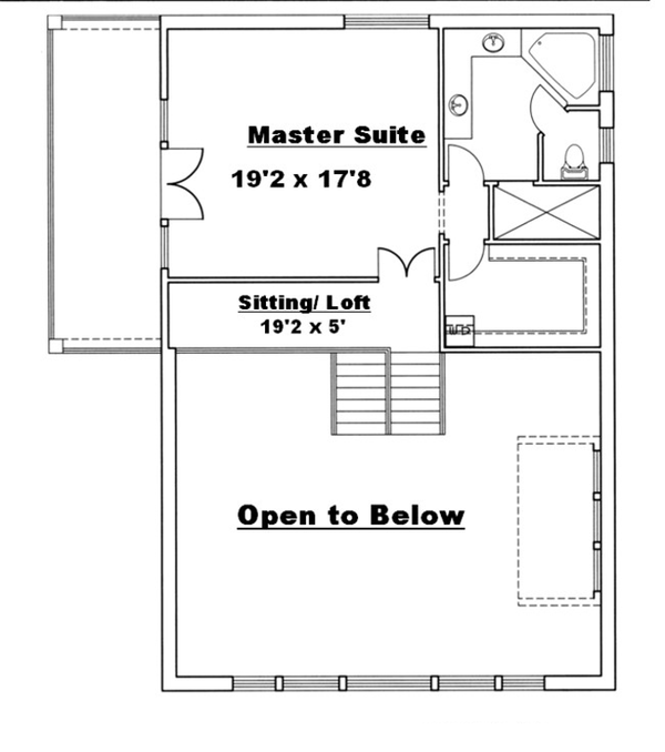 Architectural House Design - Floor Plan - Upper Floor Plan #117-829