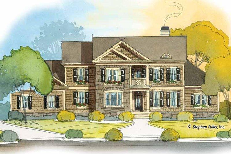 Colonial Exterior - Front Elevation Plan #429-391 - Houseplans.com