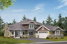 Craftsman Exterior - Front Elevation Plan #132-318