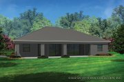 Contemporary Style House Plan - 3 Beds 2 Baths 2042 Sq/Ft Plan #930-455 Exterior - Rear Elevation