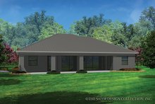Contemporary Exterior - Rear Elevation Plan #930-455