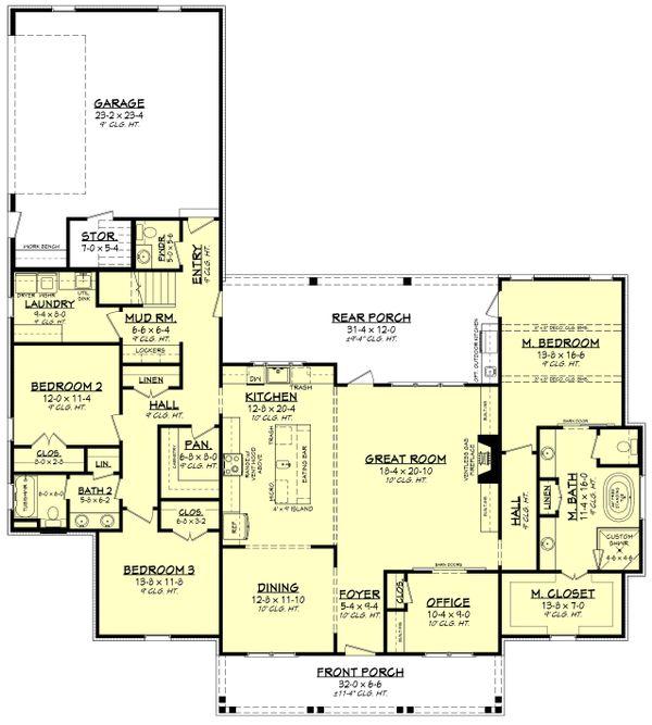 Dream House Plan - Southern Floor Plan - Main Floor Plan #430-216
