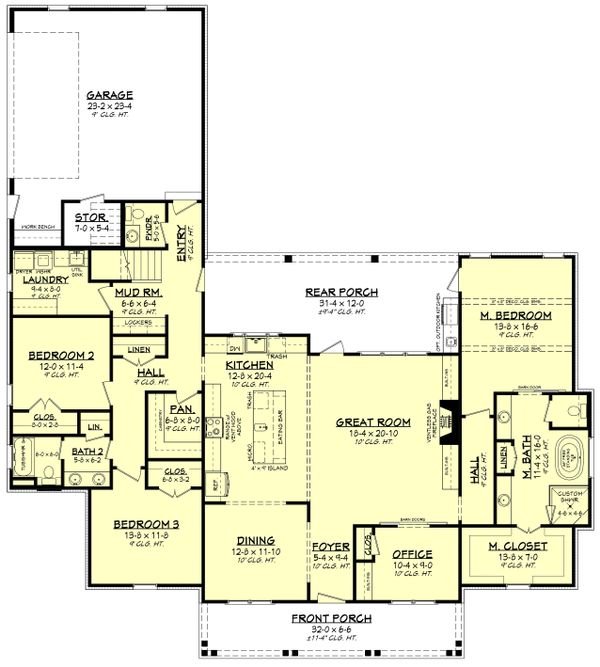 Southern Floor Plan - Main Floor Plan #430-216