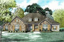 Dream House Plan - European Exterior - Front Elevation Plan #17-2532