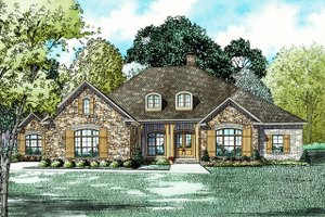 Architectural House Design - European Exterior - Front Elevation Plan #17-2532