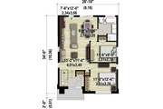 Contemporary Style House Plan - 2 Beds 1 Baths 865 Sq/Ft Plan #25-4325 Floor Plan - Main Floor Plan