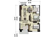 Contemporary Style House Plan - 2 Beds 1 Baths 865 Sq/Ft Plan #25-4325 Floor Plan - Main Floor