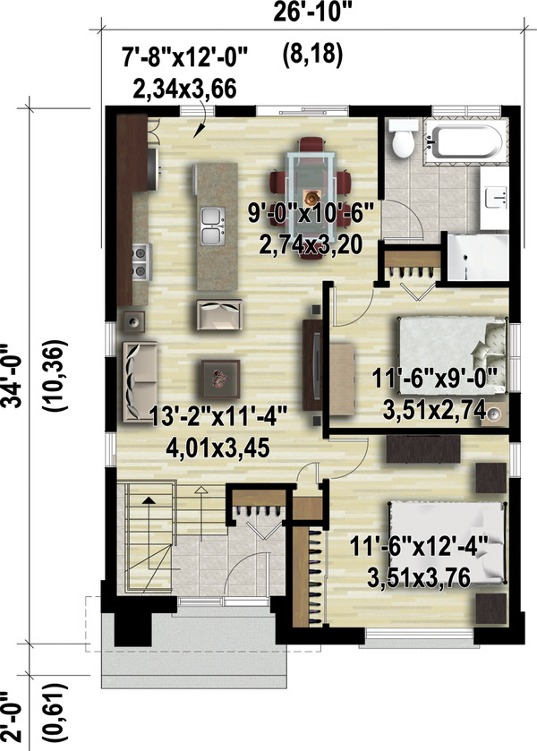 Contemporary Floor Plan - Main Floor Plan #25-4325