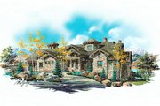 Craftsman Style House Plan - 5 Beds 5 Baths 5022 Sq/Ft Plan #5-443 Exterior - Front Elevation