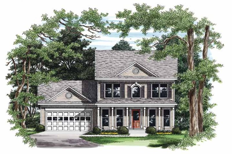 Colonial Exterior - Front Elevation Plan #927-338
