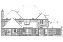 European Exterior - Rear Elevation Plan #310-1277