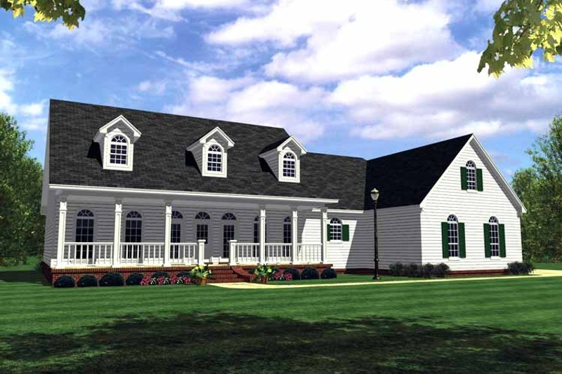 Country Exterior - Front Elevation Plan #21-416