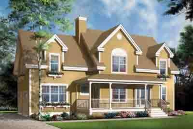 Country Exterior - Front Elevation Plan #23-627 - Houseplans.com
