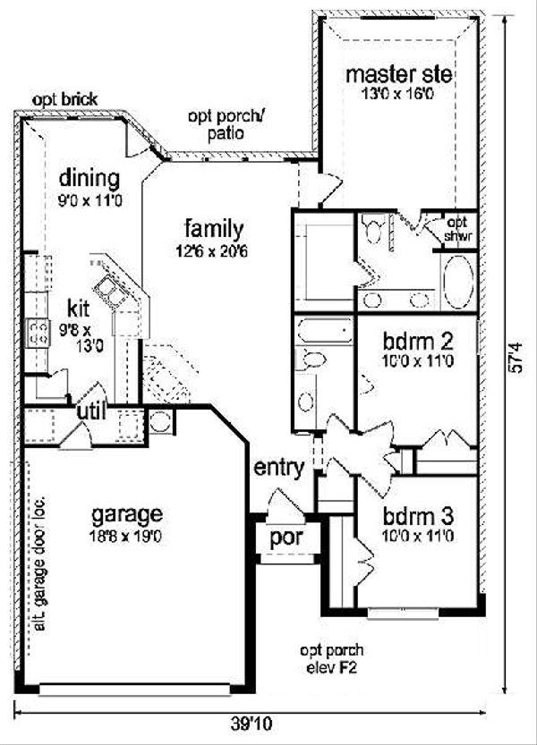 Craftsman Floor Plan - Main Floor Plan Plan #84-263