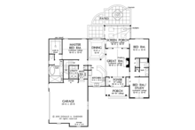 Ranch Floor Plan - Main Floor Plan Plan #929-1002