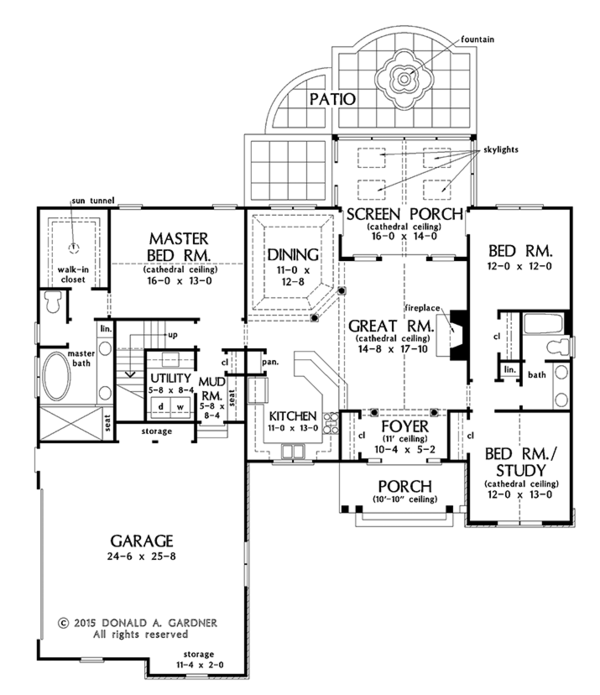 Ranch Floor Plan - Main Floor Plan #929-1002