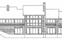 House Blueprint - Contemporary Exterior - Rear Elevation Plan #72-784