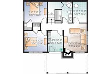 Craftsman Floor Plan - Lower Floor Plan Plan #23-2462