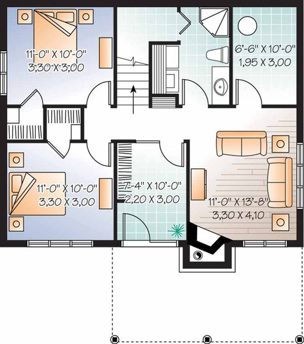 Craftsman Floor Plan - Lower Floor Plan Plan #23-2462