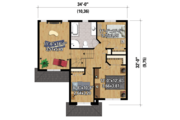 Traditional Style House Plan - 3 Beds 1 Baths 1592 Sq/Ft Plan #25-4423 Floor Plan - Upper Floor