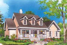Country Exterior - Front Elevation Plan #929-221