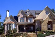 European Style House Plan - 5 Beds 4.5 Baths 4353 Sq/Ft Plan #54-101 Exterior - Front Elevation