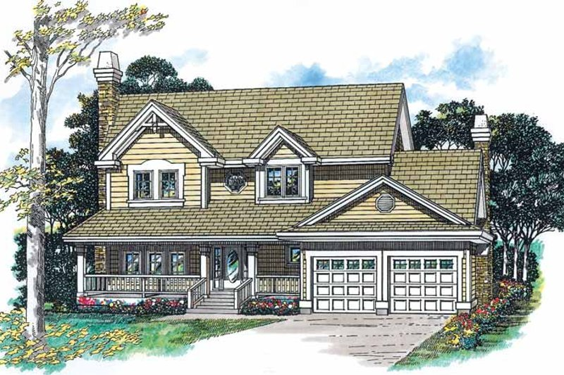 Country Exterior - Front Elevation Plan #47-944