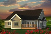 Ranch Style House Plan - 2 Beds 2 Baths 1848 Sq/Ft Plan #70-1212 Exterior - Rear Elevation