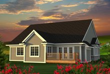 Architectural House Design - Ranch Exterior - Rear Elevation Plan #70-1212