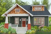 Craftsman Style House Plan - 3 Beds 2.5 Baths 2071 Sq/Ft Plan #461-51 Exterior - Front Elevation