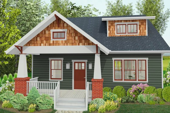 Craftsman Exterior - Front Elevation Plan #461-51