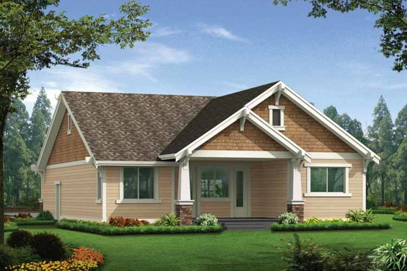 Craftsman Exterior - Rear Elevation Plan #132-529 - Houseplans.com