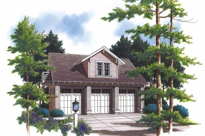 Country Exterior - Front Elevation Plan #48-834