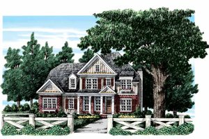 Tudor Exterior - Front Elevation Plan #927-313