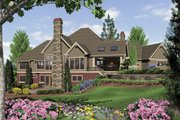 Craftsman Style House Plan - 4 Beds 3.5 Baths 4732 Sq/Ft Plan #48-233 Exterior - Rear Elevation