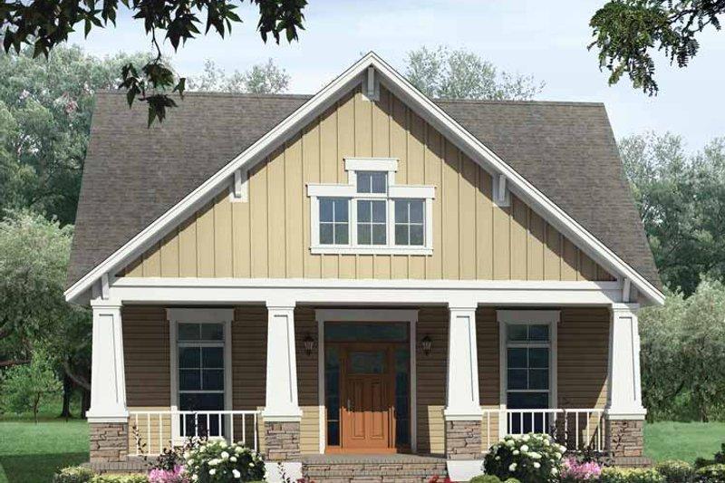 Craftsman Exterior - Front Elevation Plan #21-421