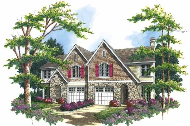 Country Exterior - Front Elevation Plan #48-820