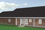 Southern Style House Plan - 3 Beds 2 Baths 2091 Sq/Ft Plan #44-144 Exterior - Rear Elevation