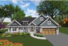 Dream House Plan - Craftsman Exterior - Front Elevation Plan #70-1271