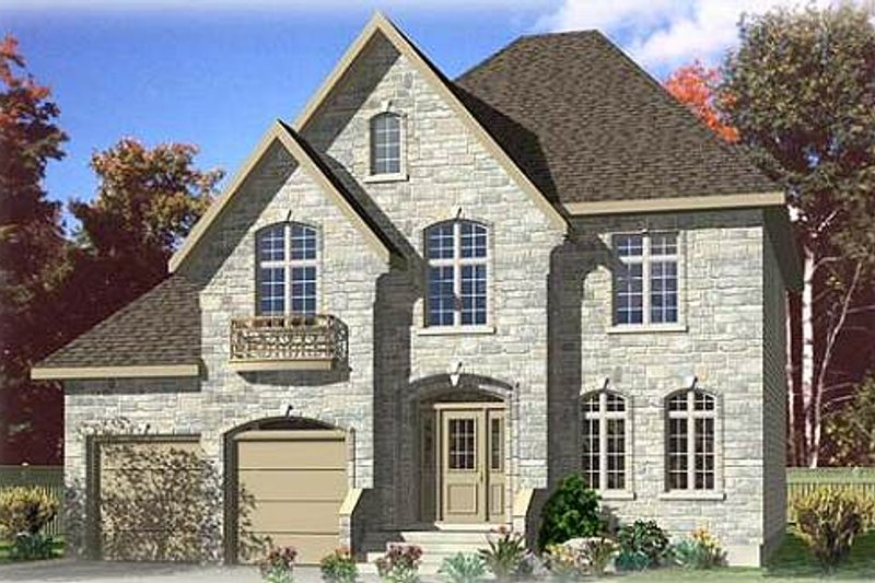European Style House Plan - 4 Beds 2.5 Baths 2447 Sq/Ft Plan #138-167 Exterior - Front Elevation