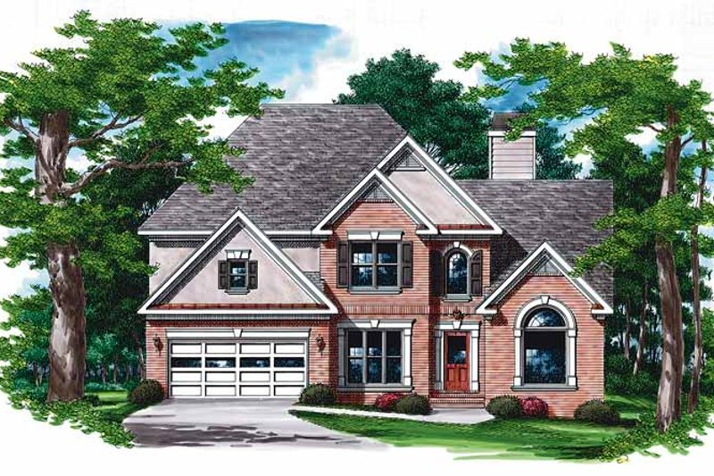 Traditional Exterior - Front Elevation Plan #927-112 - Houseplans.com