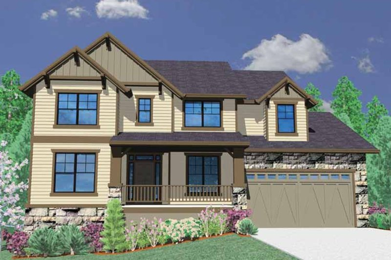 Traditional Exterior - Front Elevation Plan #509-327 - Houseplans.com